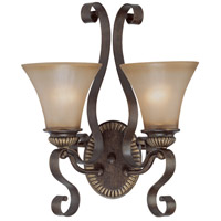 Jeremiah by Craftmade Kingsley 2 Light Wall Sconce in Century Bronze 26532-CB