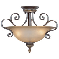 Jeremiah by Craftmade Kingsley 3 Light Semi-Flush in Century Bronze 26533-CB