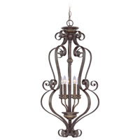 Jeremiah by Craftmade Kingsley 5 Light Foyer Pendant in Century Bronze 26535-CB