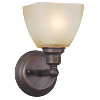 Craftmade 26601-BZ Bradley 1 Light 5 inch Bronze Wall Sconce Wall Light in Light Tea-Stained Glass
