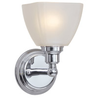 Craftmade 26601-CH Bradley 1 Light 5 inch Chrome Wall Sconce Wall Light in White Frosted Glass