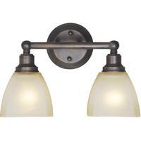 Jeremiah by Craftmade Bradley 2 Light Vanity Light in Bronze 26602-BZ