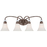 Jeremiah by Craftmade Boulevard 4 Light Vanity Light in Mocha Bronze 26704-MB