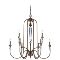 Boulevard 9 Light 37 inch Mocha Bronze and Silver Accents Chandelier Ceiling Light