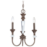 Boulevard 3 Light 13 inch Mocha Bronze and Silver Accents Chandelier Ceiling Light