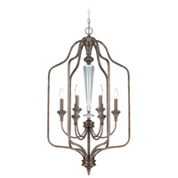 Boulevard 6 Light 21 inch Mocha Bronze and Silver Accents Foyer Light Ceiling Light