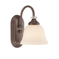 Jeremiah by Craftmade Cambridge 1 Light Vanity Light in Tortoise Crackle 27201-TC