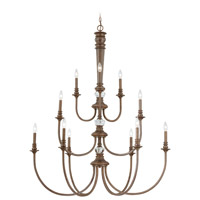 Jeremiah by Craftmade Cambridge 12 Light Chandelier in Tortoise Crackle 27212-TC