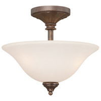 Jeremiah by Craftmade Cambridge 3 Light Semi-Flush in Tortoise Crackle 27223-TC