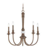 Jeremiah by Craftmade Cambridge 5 Light Chandelier in Tortoise Crackle 27225-TC