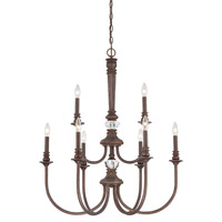 Jeremiah by Craftmade Cambridge 9 Light Chandelier in Tortoise Crackle 27229-TC