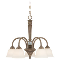 Cambridge 5 Light 25 inch Tortoise Crackle Chandelier Ceiling Light in Creamy Etched Glass