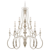 Craftmade 27312-ATL Zoe 12 Light 47 inch Antique Linen Chandelier Ceiling Light