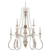 Zoe 9 Light 34 inch Antique Linen Chandelier Ceiling Light