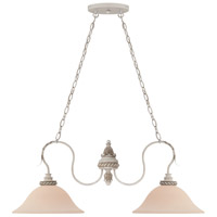Craftmade 27332-ATL Zoe 2 Light 36 inch Antique Linen Island Light Ceiling Light in Frosted