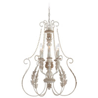 Zoe 6 Light 22 inch Antique Linen Foyer Pendant Ceiling Light
