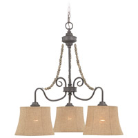 Jeremiah by Craftmade Quincy Down-Light 3 Light Chandelier in Seville Iron 27523-SI