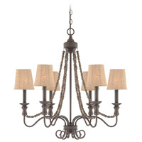 Jeremiah by Craftmade Quincy 6 Light Chandelier in Seville Iron 27526-SI