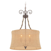 Jeremiah by Craftmade Quincy 3 Light Foyer Pendant in Seville Iron 27533-SI