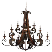 Craftmade 28012-SPZ Seville 12 Light 54 inch Spanish Bronze Chandelier Ceiling Light