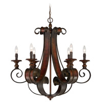 Jeremiah by Craftmade Seville 6 Light Chandelier in Spanish Bronze 28026-SPZ