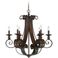 Craftmade 28026-SPZ Seville 6 Light 30 inch Spanish Bronze Chandelier Ceiling Light