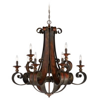 Seville 9 Light 36 inch Spanish Bronze Chandelier Ceiling Light