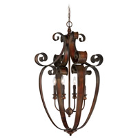 Jeremiah by Craftmade Seville 4 Light Foyer Pendant in Spanish Bronze 28034-SPZ