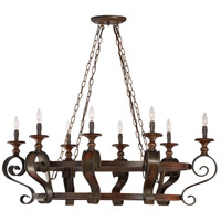 Jeremiah by Craftmade Seville 8 Light Pot Rack in Spanish Bronze 28038-SPZ