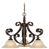 Seville 3 Light 26 inch Spanish Bronze Breakfast Nook Light Ceiling Light in Creamy Frosted Glass
