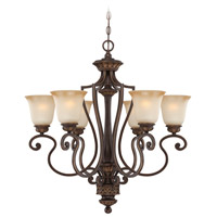 Jeremiah by Craftmade Josephine 6 Light Chandelier in Aged Bronze with Gold 28226-ABZG