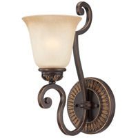 Josephine 1 Light 6 inch Antique Bronze and Gold Accents Wall Sconce Wall Light in Salted Caramel
