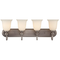 Jeremiah by Craftmade Willow Park 4 Light Vanity Light in Antique Nickel 28504-AN