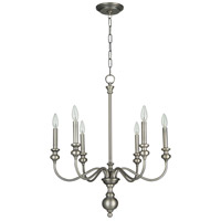 Craftmade 28526-AN Willow Park 6 Light 26 inch Antique Nickel Chandelier Ceiling Light in Black Shade