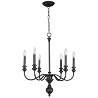 Craftmade 28526-GB Willow Park 6 Light 26 inch Gothic Bronze Chandelier Ceiling Light in Golden Bronze, Beige Fabric