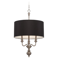 Jeremiah by Craftmade Willow Park 3 Light Foyer Pendant in Antique Nickel 28533-AN