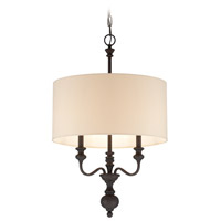 Jeremiah by Craftmade Willow Park 3 Light Foyer Pendant in Golden Bronze 28533-GB