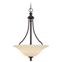 Willow Park 3 Light 18 inch Gothic Bronze Inverted Pendant Ceiling Light in Golden Bronze