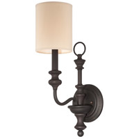 Willow Park 1 Light 10 inch Gothic Bronze Wall Sconce Wall Light in Golden Bronze, Natural Linen Shade