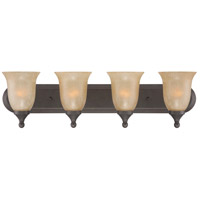 Jeremiah by Craftmade Edgefield 4 Light Vanity Light in Oil Rubbed Bronze 28704-ORB