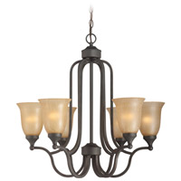 Jeremiah by Craftmade Edgefield 6 Light Chandelier in Oil Rubbed Bronze 28726-ORB