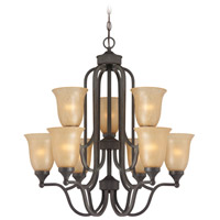 Jeremiah by Craftmade Edgefield 9 Light Chandelier in Oil Rubbed Bronze 28729-ORB