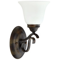 Craftmade 29001-BBZ-WG McKinney 1 Light 7 inch Burleson Bronze Wall Sconce Wall Light in White Frosted Glass, Jeremiah