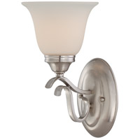 Mckinney 1 Light 7 inch Brushed Nickel Vanity Light Wall Light in Frost White