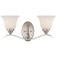 Jeremiah by Craftmade Mckinney 2 Light Vanity Light in Brushed Nickel 29002-BNK