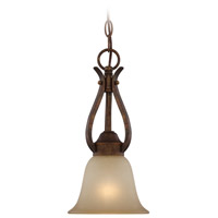 Mckinney 1 Light 7 inch Burleson Bronze Mini-Pendant Ceiling Light in Salted Caramel