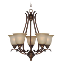 Mckinney 5 Light 25 inch Burleson Bronze Chandelier Ceiling Light in Salted Caramel