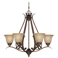 Mckinney 6 Light 30 inch Burleson Bronze Chandelier Ceiling Light in Salted Caramel
