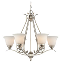 Jeremiah by Craftmade Mckinney 6 Light Chandelier in Brushed Nickel 29026-BNK