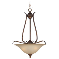 McKinney 3 Light 20 inch Burleson Bronze Inverted Pendant Ceiling Light in Salted Caramel